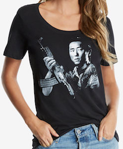 Glenn Rhee And Gun T-Shirt