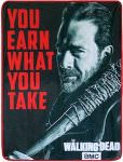 The Walking Dead Negan Earn What You Take Blanket