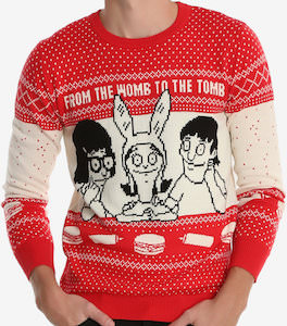 Bob's Burgers Red Christmas Sweater