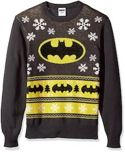 Batman Black and Yellow Christmas Sweater