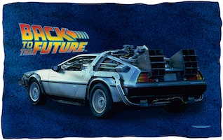 DeLorean Fleece Blanket