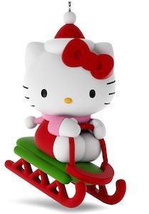 Hello Kitty Sleigh Christmas Ornament
