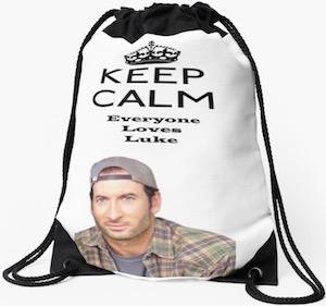 Keep Calm Everyone Loves Luke Backpack