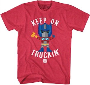 Transformers Optimus Prime Keep On Truckin T-Shirt