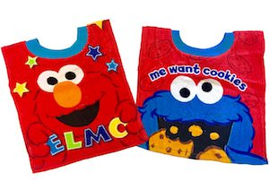 Elmo And Cookie Monster Bib Set
