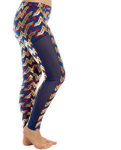 Wonder Woman Leggings With Mesh Insert
