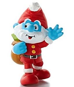 Santa Papa Smurf Christmas Ornament
