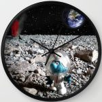 Smurf On The Moon Wall Clock