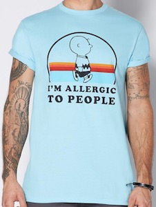 Charlie Borwn Allergic To People T-Shirt