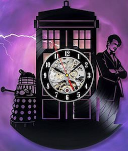 Doctor Who Vinyl Record Wall Clock