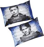 Supernatural Sam And Dean Mugshot Pillowcase Set