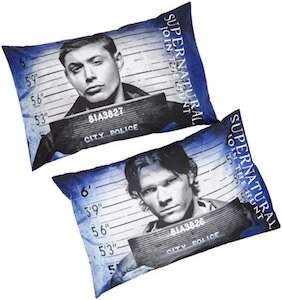 Sam And Dean Mugshot Pillowcase Set