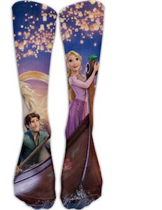 Tangled Rapunzel And Flynn Knee Socks
