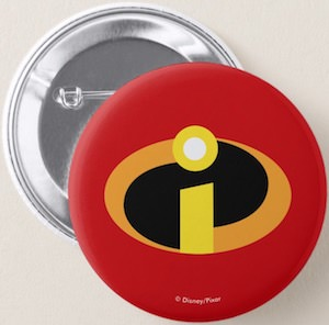 The Incredibles Logo Button