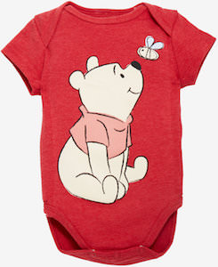 Winnie The Pooh Smelling The Bee Baby Bodysuit