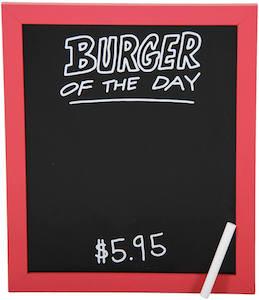 Bob's Burgers Menu Board