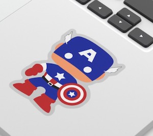 buy your Marvel Captain America Sticker