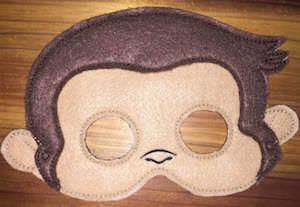 Curious George Monkey Mask