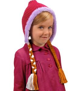 Disney Frozen Anna Winter Hat With Braids