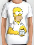 The Simpsons Homer Running Out Of Beer T-Shirt