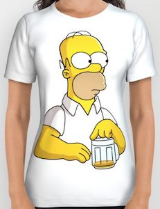 Homer Running Out Of Beer T-Shirt