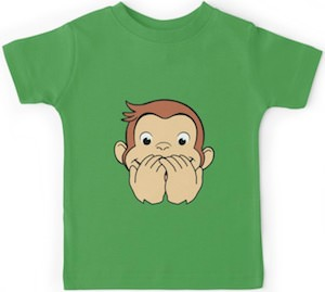 Laughing Curious George T-Shirt
