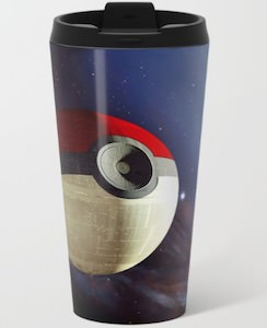 Poke Ball Death Star Travel Mug