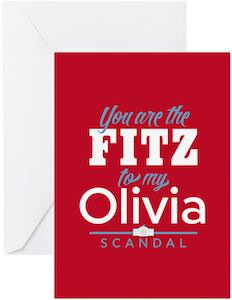 You Are The Fritz To My Olivia Greeting Card