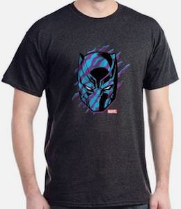 Black Panther Scratched Mask T-Shirt