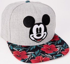 Floral Mickey Mouse Cap