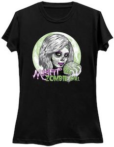 Misfit Zombie Girl T-Shirt