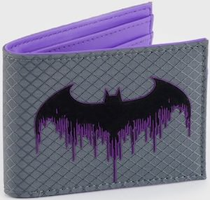 Purple Batman Logo Wallet