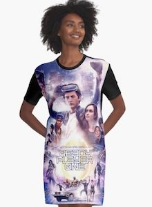 Ready Player One Movie Poster Dress