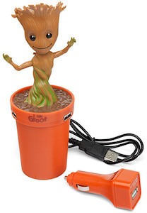 Dancing Baby Groot USB Car Charger
