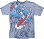 Captain America Using His Shield T-Shirt