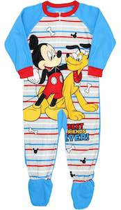 Mickey And Pluto Onesie Pajama