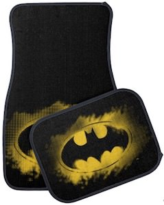 Smudged Batman Logo Car Floor Mats