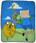Adventure Time Finn And Jake Fleece Blanket