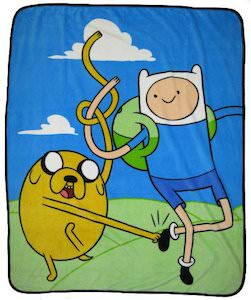 Finn And Jake Fleece Blanket