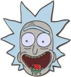 Happy Rick Pin from Rick and morty