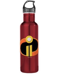 The Incredibles 2 Logo Water Bottle