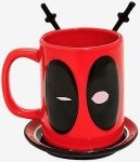 Marvel Deadpool Mug With Coaster And Spoons