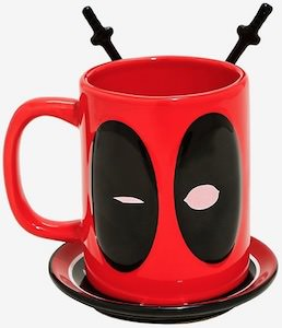Deadpool Mug With Coaster And Spoons