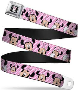 Pink Minnie Mouse Belt