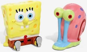 Spongebob and Gary Salt And Pepper Shaker