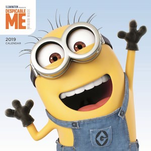 2019 Despicable Me Minion Wall Calendar
