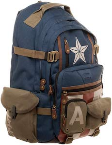 Captain America Backpack With Lots Of Pockets