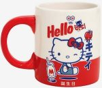 Red And White Hello Kitty Mug