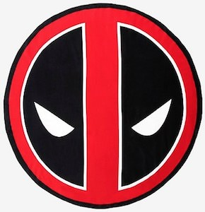 Marvel Round Deadpool Beach Towel