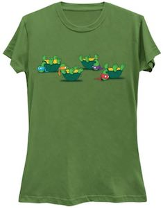 TMNT Turtles On Their Back T-Shirt
